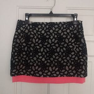 NWT DVF Elley Mini Shadow Dot Lace Skirt